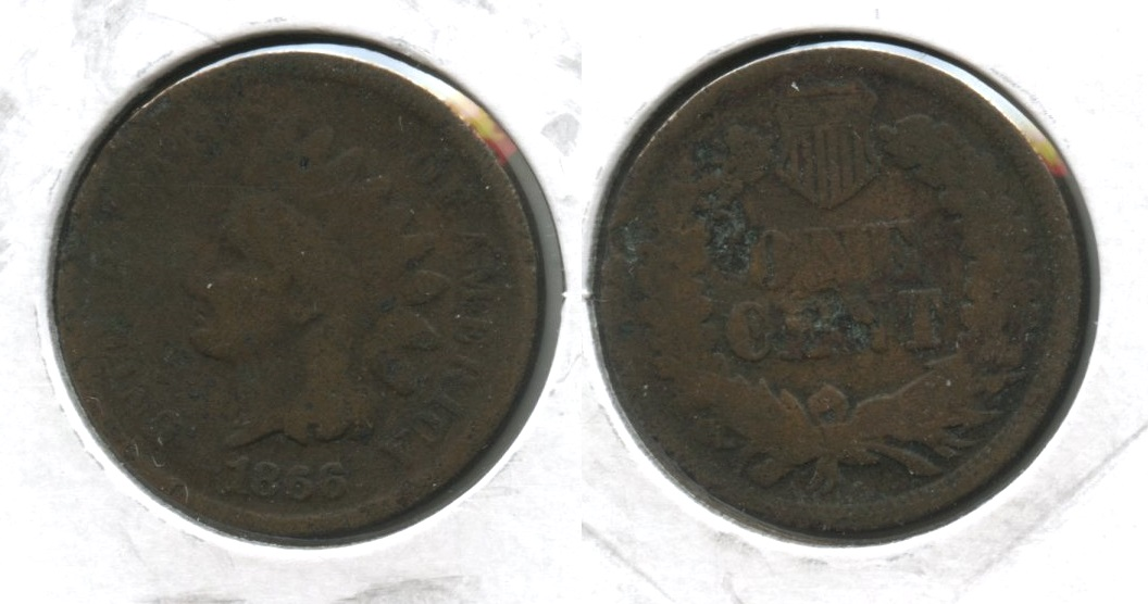 1866 Indian Head Cent Fair-2 #b