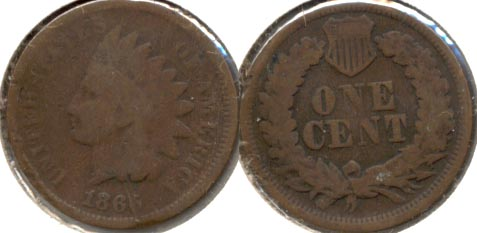 1866 Indian Head Cent Good-4 c