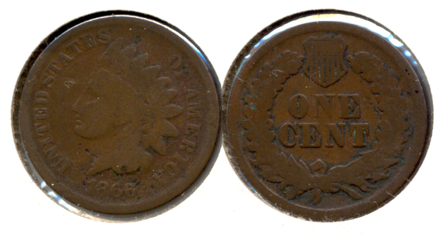 1866 Indian Head Cent Good-4 i