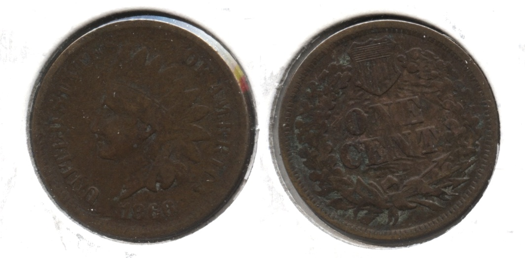 1866 Indian Head Cent VG-10 Reverse Marks