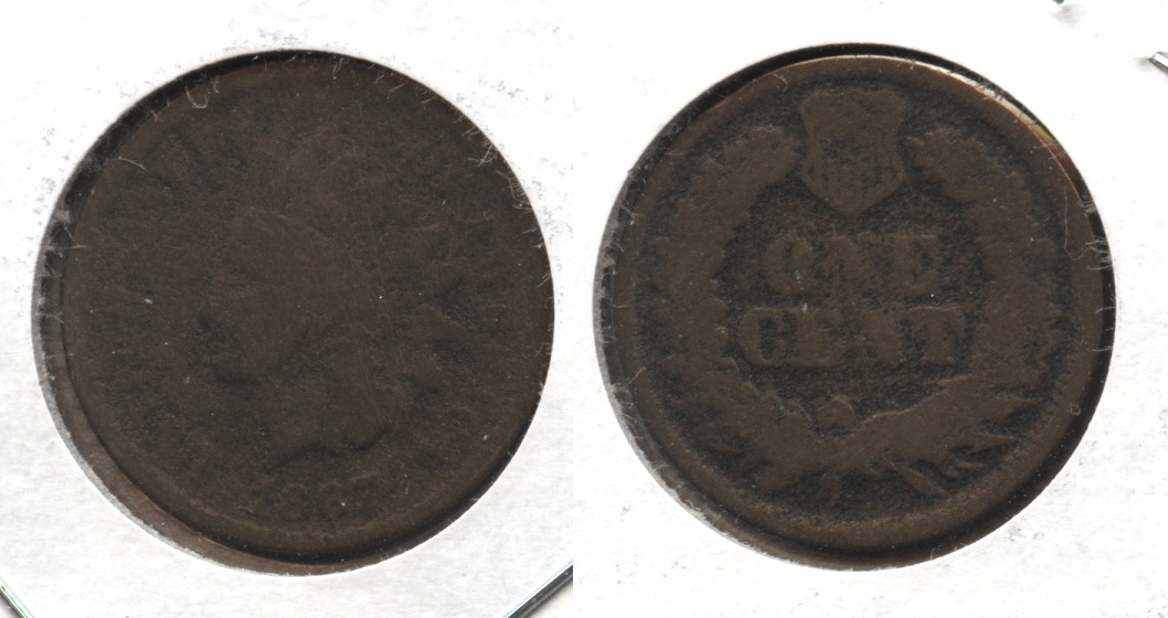 1867 Indian Head Cent Fair-2 #d
