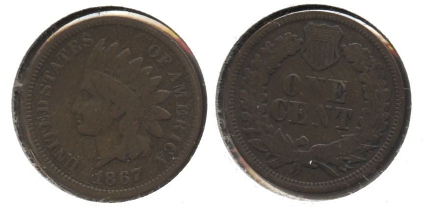 1867 Indian Head Cent Good-4 #i