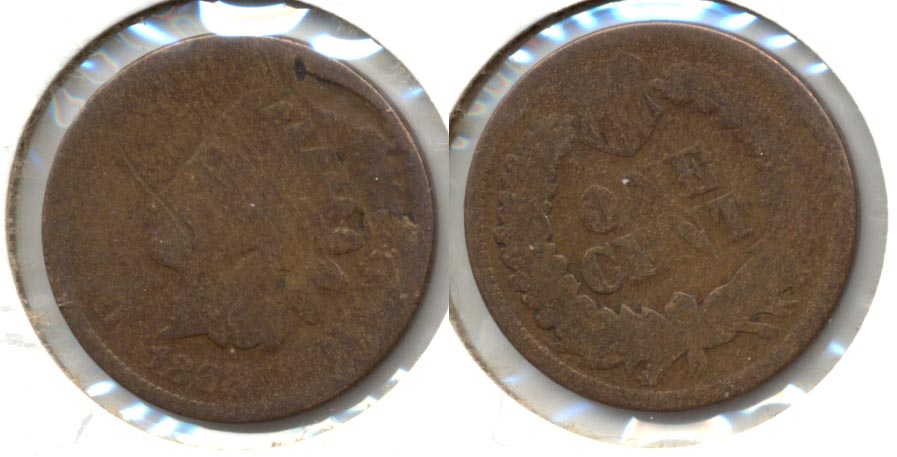 1868 Indian Head Cent AG-3 c Planchet Flaw