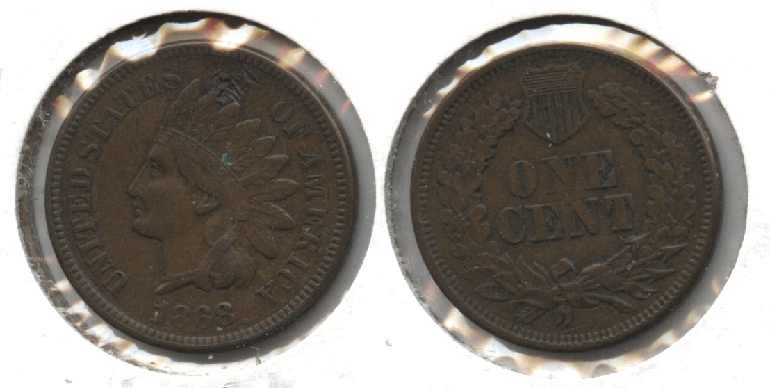 1868 Indian Head Cent EF-40 Obverse Mark