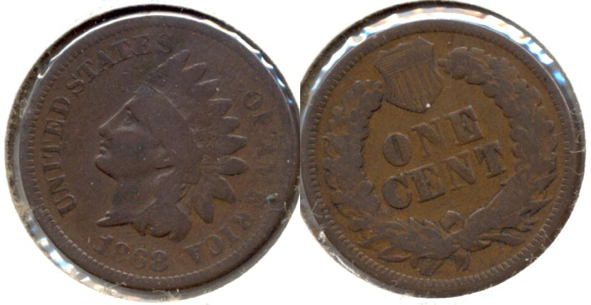 1868 Indian Head Cent Good-4 a
