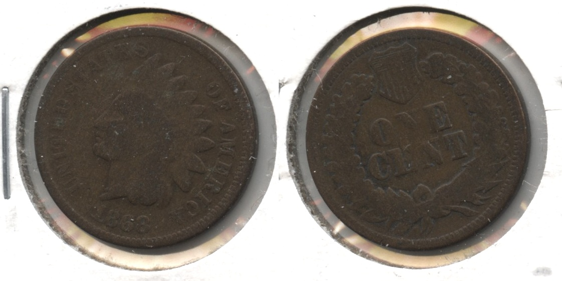1868 Indian Head Cent Good-4 #m