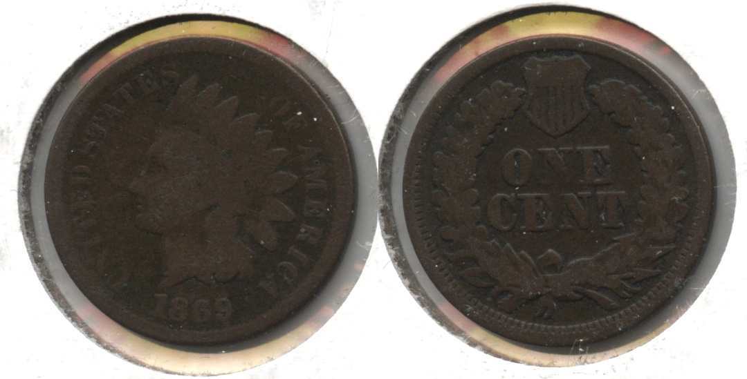 1869 Indian Head Cent Good-4 #g