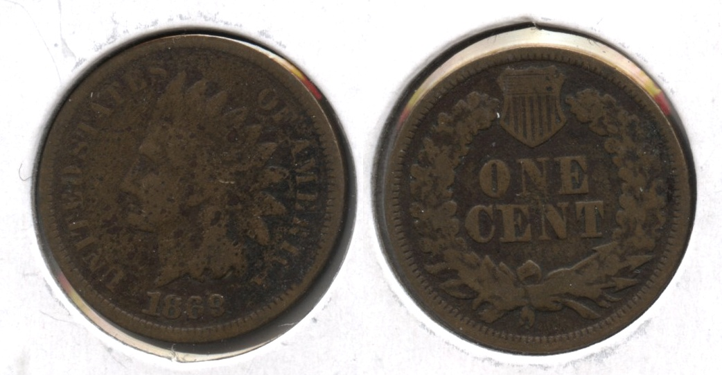 1869 Indian Head Cent Good-4 #i