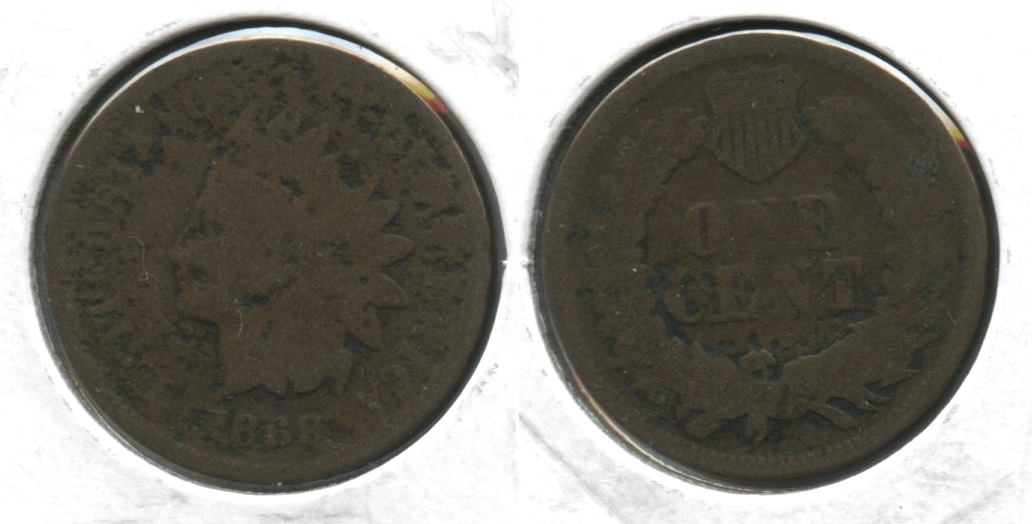 1869 Indian Head Cent Good-4 #p Pitted