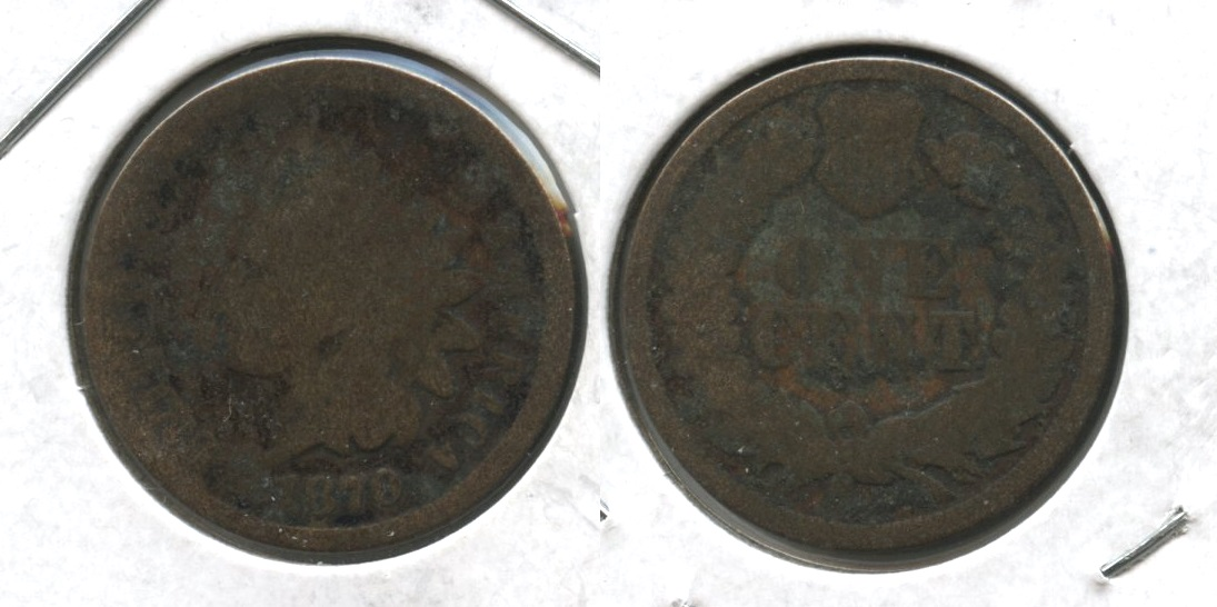 1870 Indian Head Cent Fair-2 #d