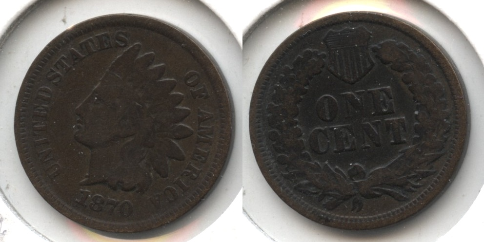 1870 Indian Head Cent Good-4 #g