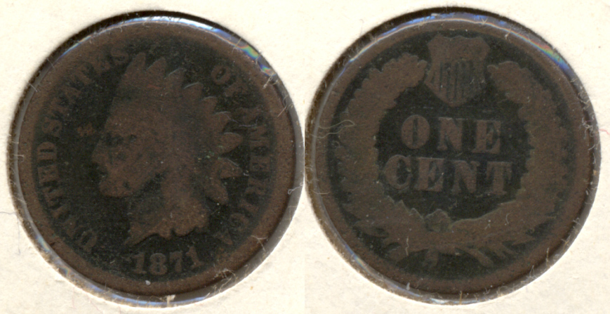 1871 Indian Head Cent AG-3