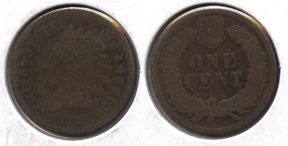 1871 Indian Head Cent Fair-2 #b