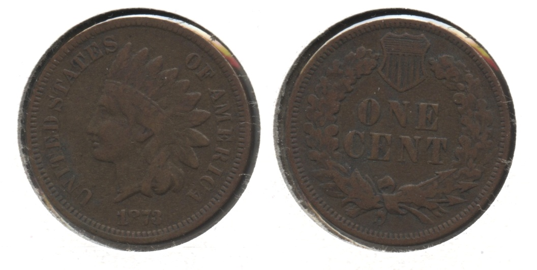 1873 Indian Head Cent Fine-12 #c