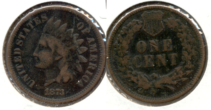 1873 Indian Head Cent Good-4 m