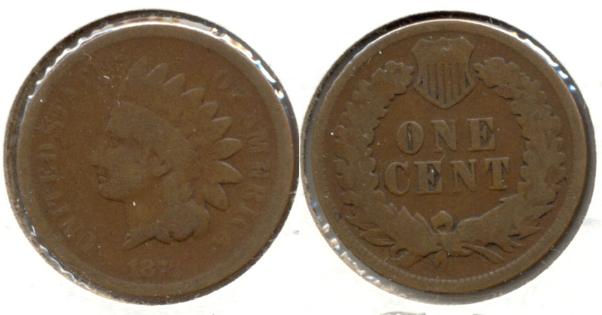 1873 Indian Head Cent Good-4 n