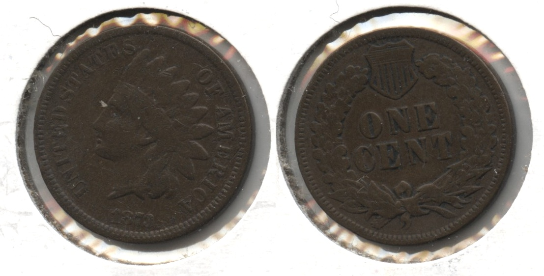 1873 Indian Head Cent VG-8 #d