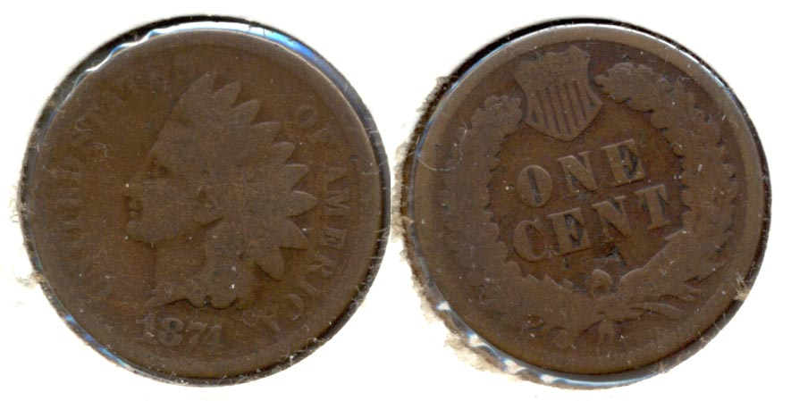 1874 Indian Head Cent AG-3 l