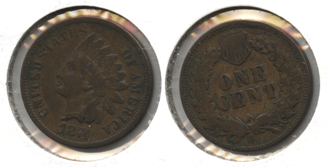 1874 Indian Head Cent Fine-12 #a