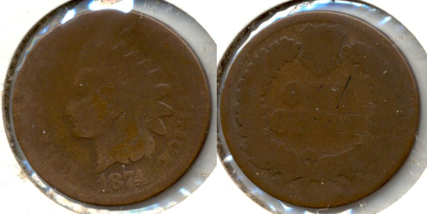 1874 Indian Head Cent Fair-2 b