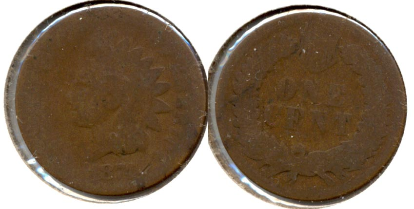 1874 Indian Head Cent Fair-2 e