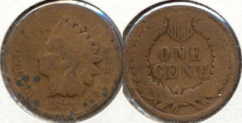 1875 Indian Head Cent AG-3 j Spots
