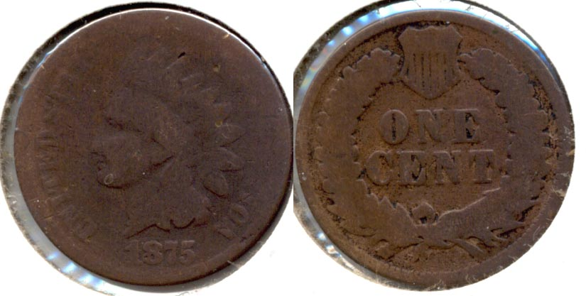 1875 Indian Head Cent AG-3 l