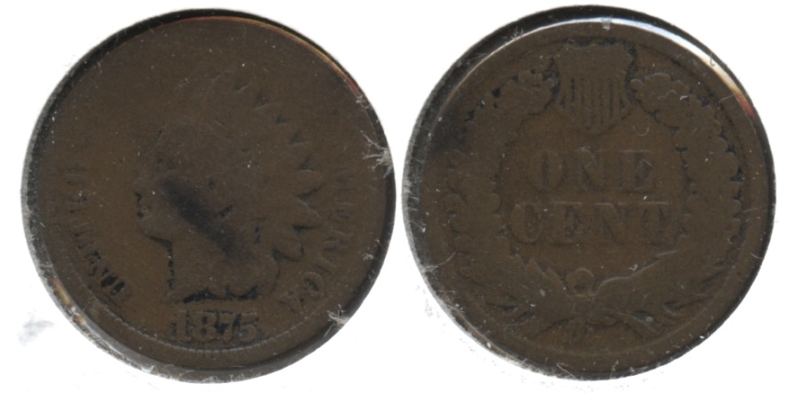 1875 Indian Head Cent AG-3 #t