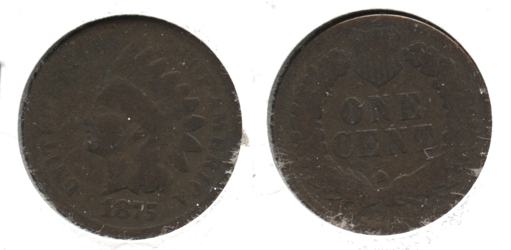 1875 Indian Head Cent AG-3 #w