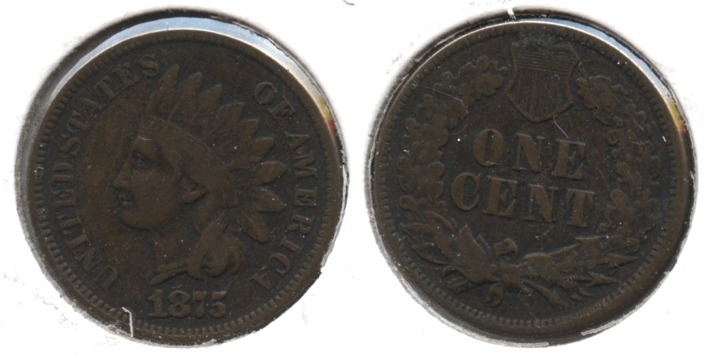 1875 Indian Head Cent Fine-12 #a