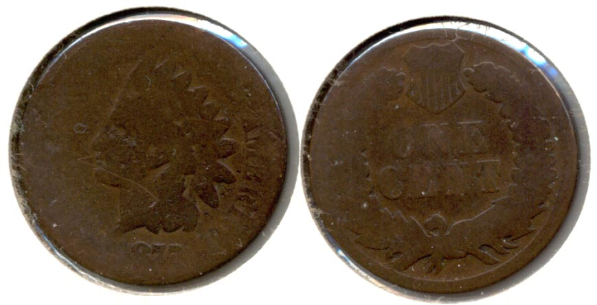 1875 Indian Head Cent Fair-2 b Cleaned Retoned