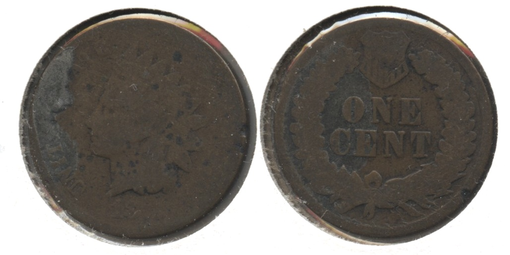 1875 Indian Head Cent Fair-2 #v
