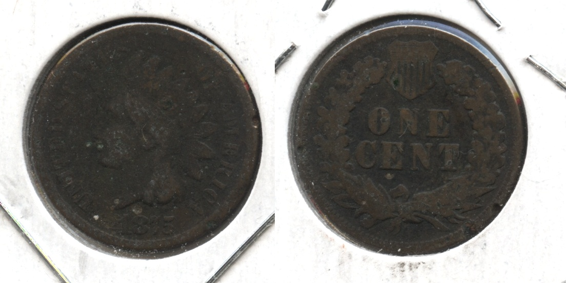 1875 Indian Head Cent Good-4 #ah Dark