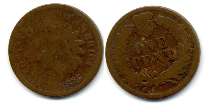 1875 Indian Head Cent Good-4 b