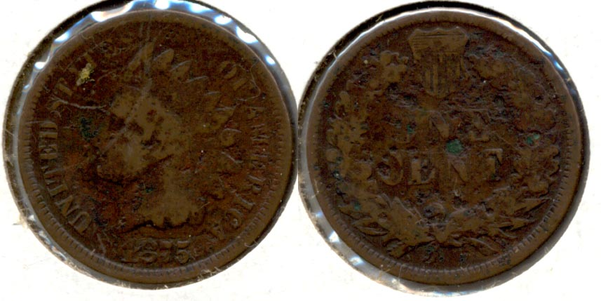 1875 Indian Head Cent Good-4 g Pits