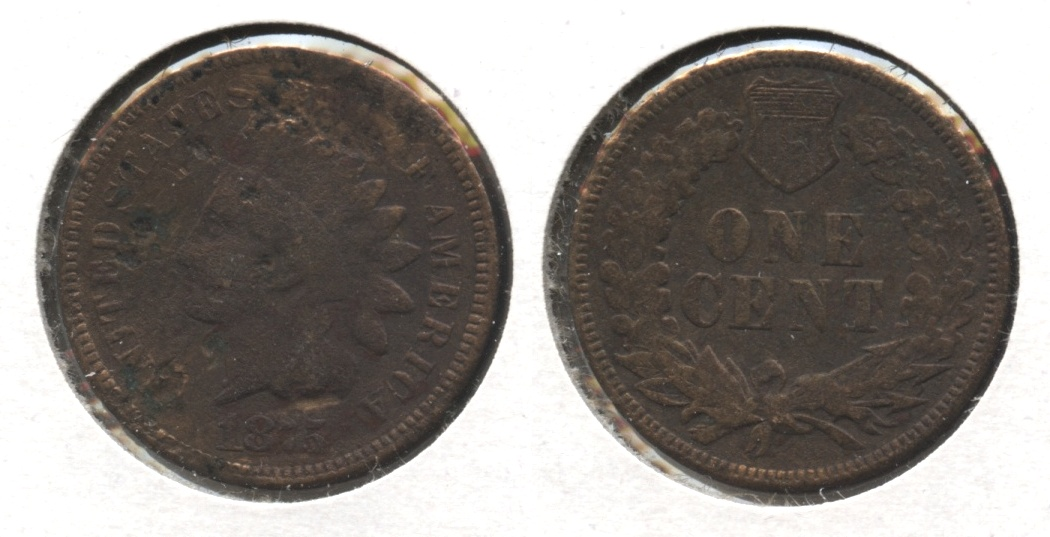 1875 Indian Head Cent VG-8 #g Pitted