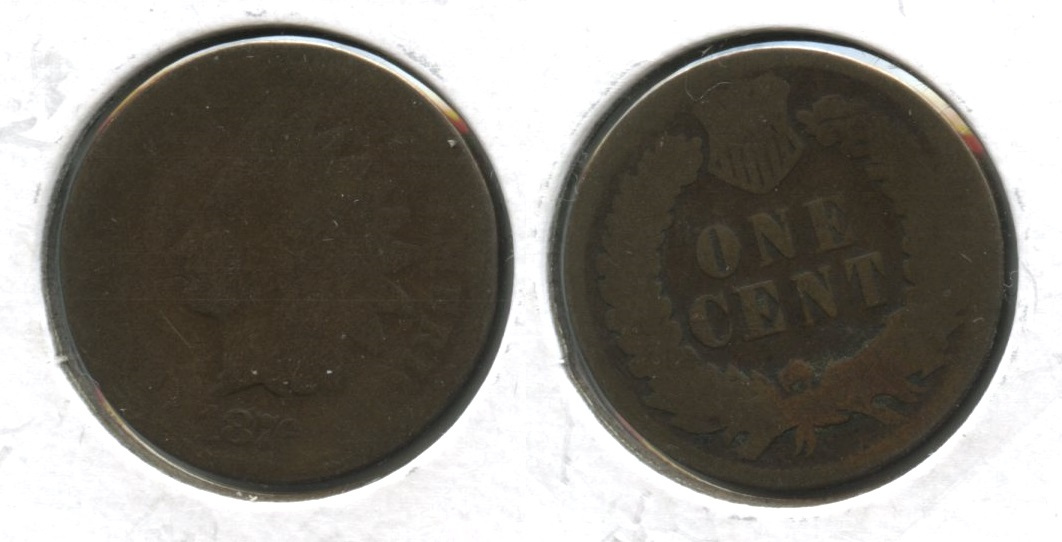 1876 Indian Head Cent Fair-2 #f