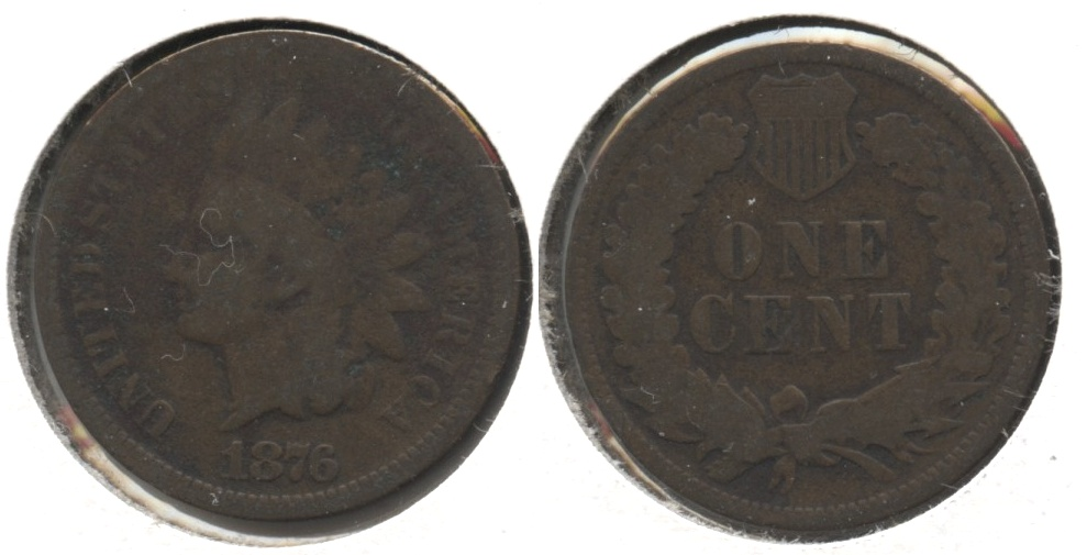 1876 Indian Head Cent Good-4 #i