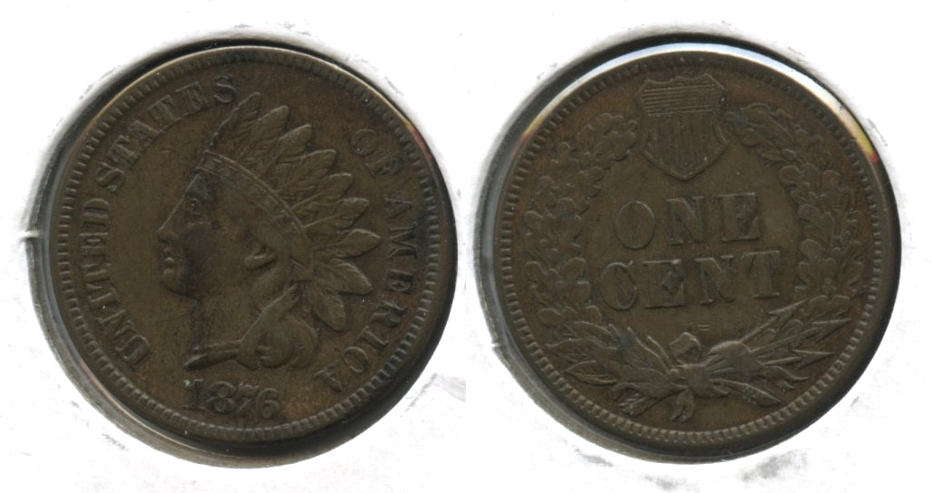 1876 Indian Head Cent VF-30