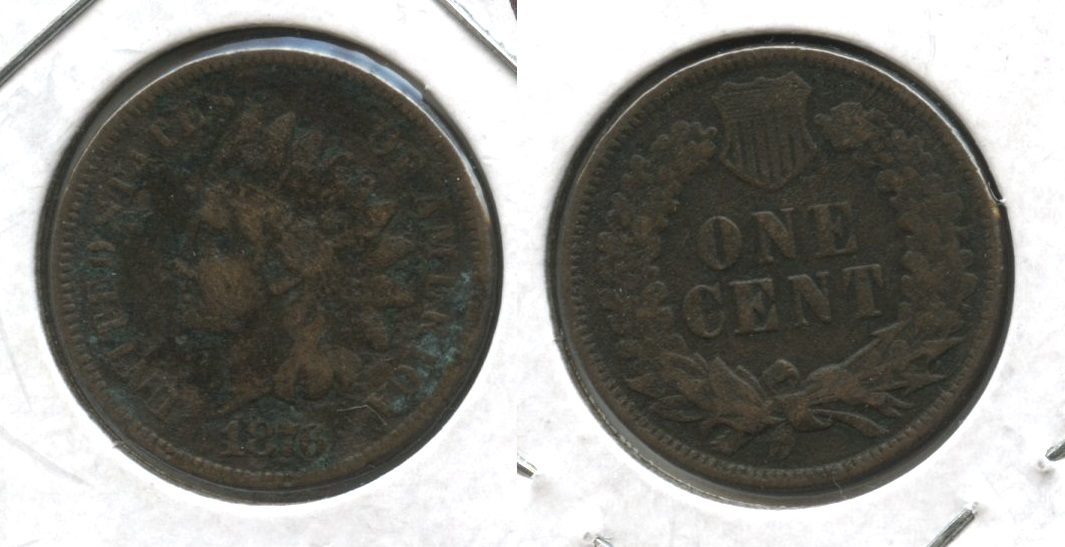 1876 Indian Head Cent VG-8 #c Pitted