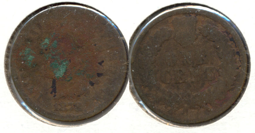 1878 Indian Head Cent AG-3 a Corroded