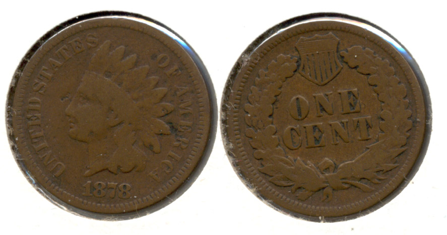 1878 Indian Head Cent Good-4 d