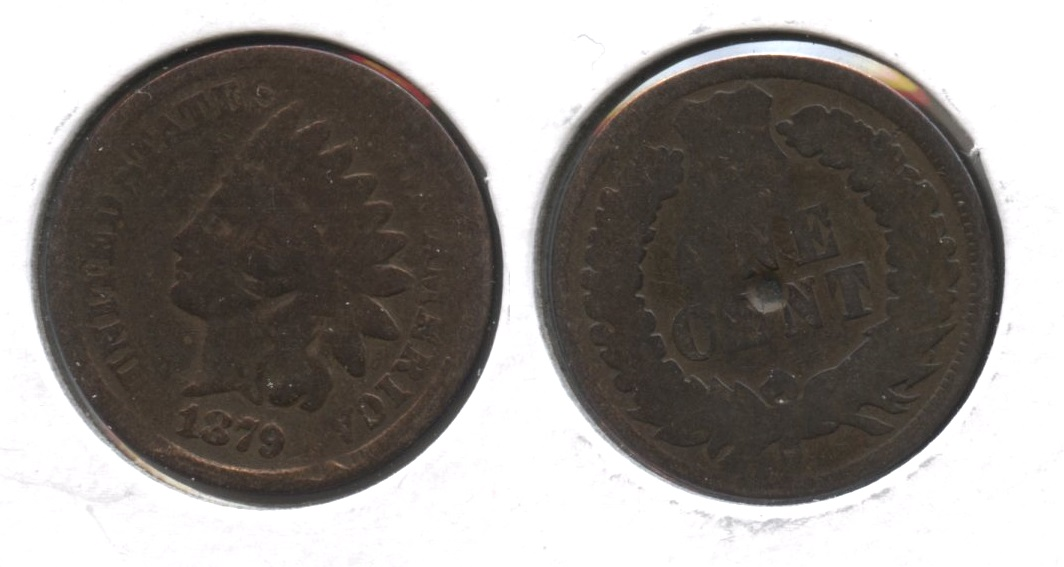 1879 Indian Head Cent Good-4 #an Polished