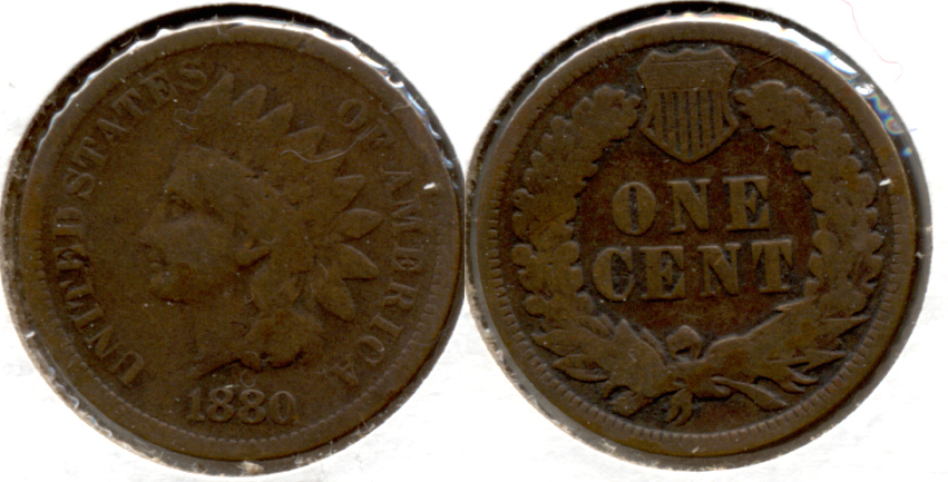 1880 Indian Head Cent Good-4