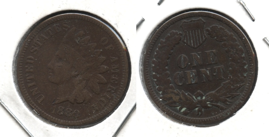 1880 Indian Head Cent Good-4 #al Bent