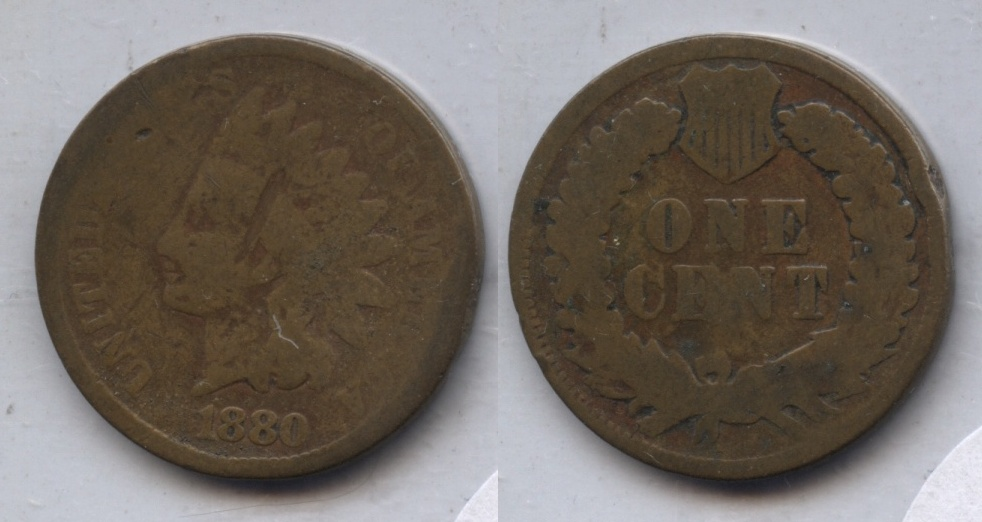 1880 Indian Head Cent Good-4 #ap Obverse Hit