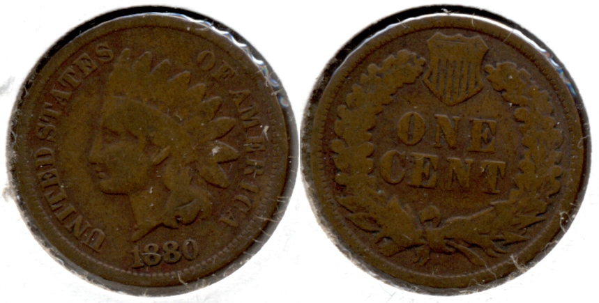 1880 Indian Head Cent Good-4 o