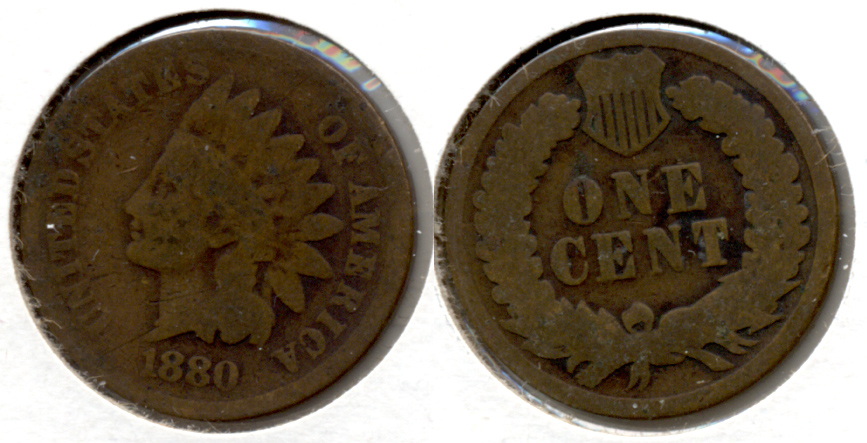 1880 Indian Head Cent Good-4 x