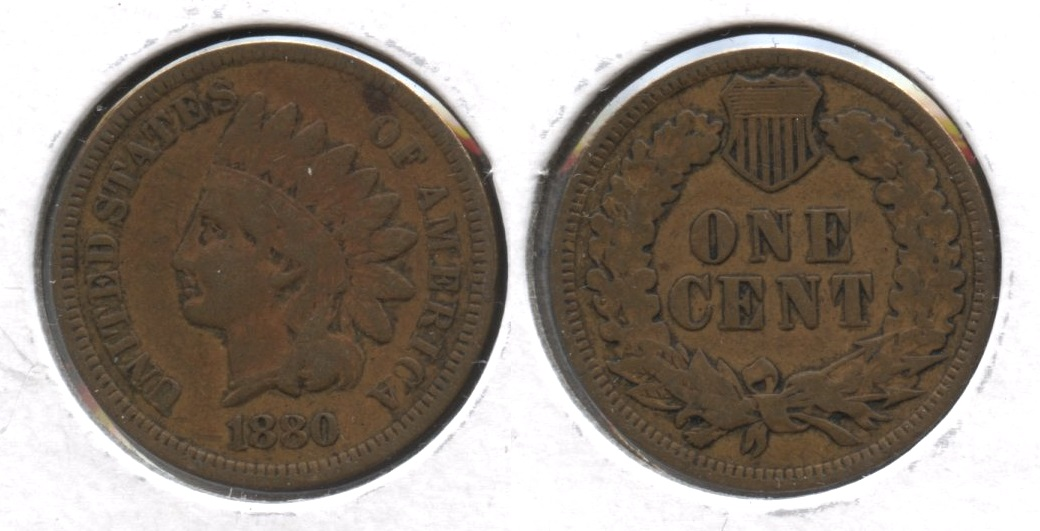 1880 Indian Head Cent VF-20 #c