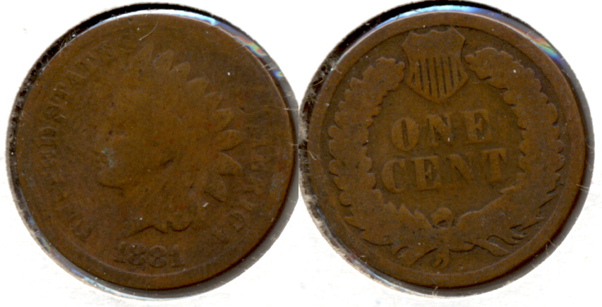 1881 Indian Head Cent AG-3 f